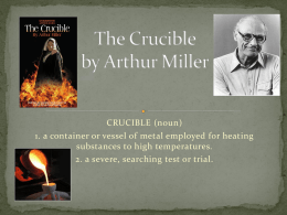 a game of chess in the crucible by arthur miller The crucible by arthur miller arthur miller's classic parable of mass hysteria draws a chilling parallel between the.