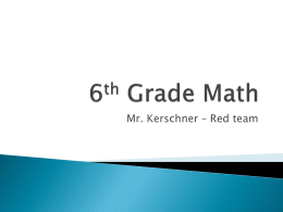 6th Grade Math - Wilson School District