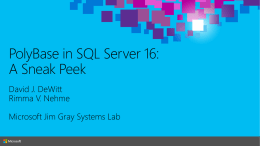PolyBase in SQL Server 16: A Sneak Peek