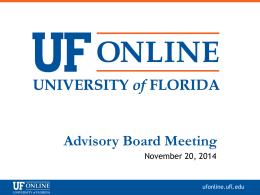 Presentation - State University System of Florida