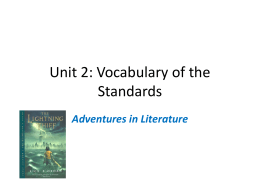 Vocabulary of the Standards Q2
