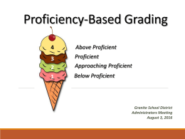 Standards Based Grading - Granite School District