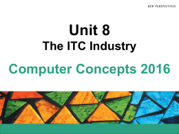 Unit 8 The ITC Industry
