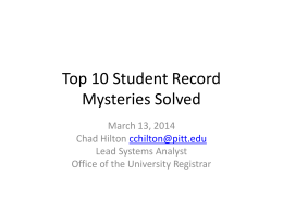 Top 10 Student Records Mysteries Solved