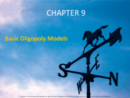 Profit Maximization in Four Oligopoly Settings