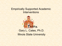 Improving Outcomes for ALL Students Through