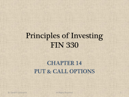 Principles of Investing FIN 330