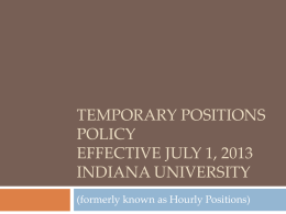 Temporary Positions Policy