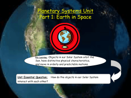 Planetary Systems Unit - Brandywine School District