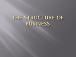 The Structure of Business
