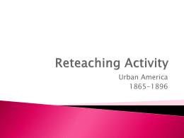 Reteaching Activity