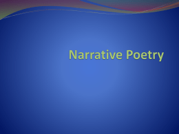 Narrative Poetry - Analys/Cr. Writ