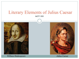 Literary Elements of Julius Caesar