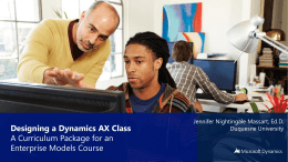 Microsoft Dynamics Academic Alliance