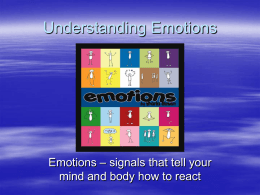 Understanding Emotions