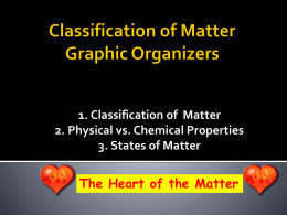 Properties of Matter Graphic Organizer_Complete