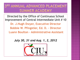 3rd Annual Advanced Placement Summer Academy - 10