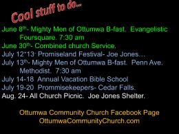 Cool stuff to do… - Ottumwa Community Church
