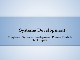 Systems Development Lecture Slide