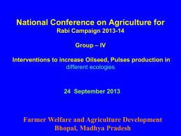 Presentation by States Madhya Pradesh Rabi Campaign 2013.