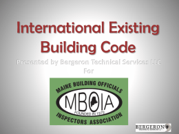 NFPA 31 - Maine Building Officials and Inspectors Association, Inc.