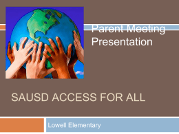 SAUSD ACCESS FOR ALL