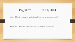 Page# 11/3/2014 - 11th Grade CP American Literature Comp A