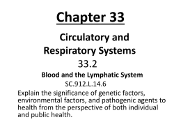 Chapter 33 Circulatory and Respiratory Systems