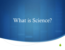 What is Science? - Blue Valley Schools