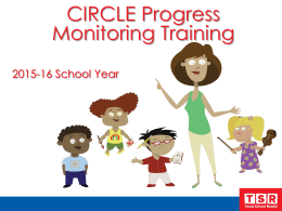 CIRCLE Progress Monitoring Training