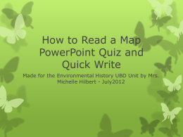 How to Read a Map PowerPoint Quiz and Quick Write