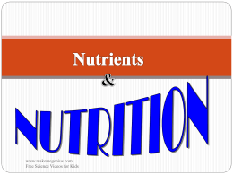 A nutrient is a chemical substance in food that helps maintain the