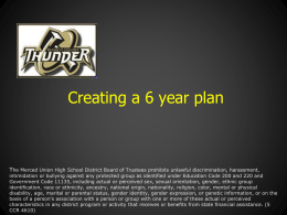 How to Create Your 6 Year Plan