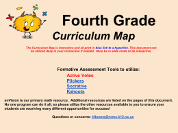 4th Interactive Curriculum Map