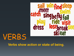 verbs - About MCES