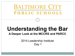 Understanding the Bar - Office 365@ Baltimore City Schools