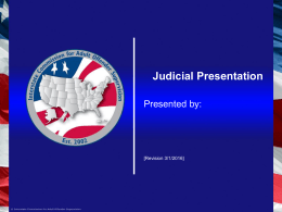 ICAOS Legal Presentation - Interstate Commission for Adult