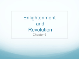 Enlightenment and Revolution
