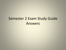 Semester 2 Exam Study Guide Answers