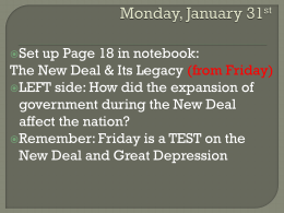 American History New Deal