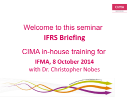 IFRS - International Financial Management Association, Geneva