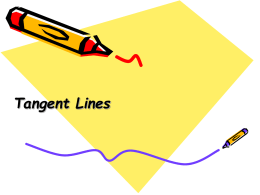 Tangent Lines Determine whether each segment is tangent to the