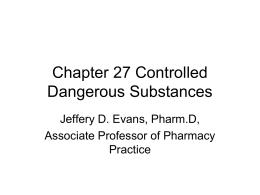 Chapter 27 Controlled Dangerous Substances
