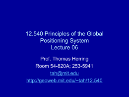 12.540 Principles of the Global Positioning