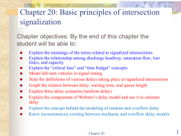 Basic principles of intersection signalization