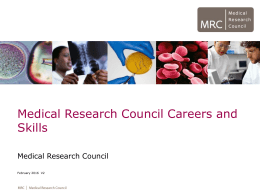 How MRC supports skills and careers (slide set) (PPTX file, 7.36MB)