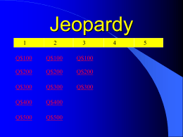 Jeopardy - combsbusiness