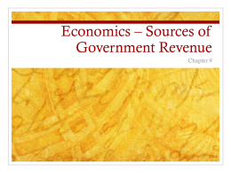 Economics * Sources of Government Revenue