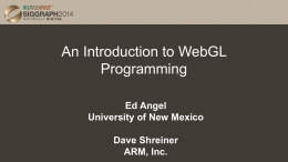 Introduction to WebGL Programming