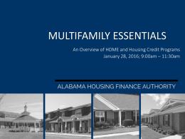 Multifamily Program Essentials Training Presentation